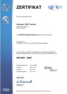 hofmann cnc technik traunstein zertifikat
