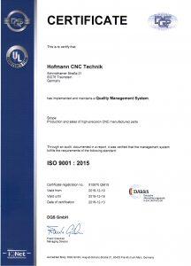 Zertifikat_ISO9001_2015_englisch hofmann cnc technik traunstein